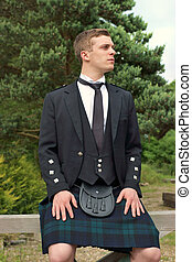 Scotsman in a Kilt - A Scotsman in full kilt formal wear...