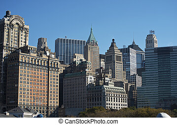 Lower Manhatten - View of Lower Manhattein in New York...