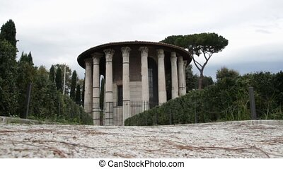 temple - the temple of Hercules aka Vesta in Rome, Italy
