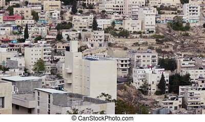 White blocks of Bethlehem neigborhood, Palestinian territory...
