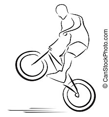 vector illustration bmx player symbol