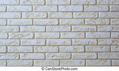 Panorama decorative tiles brick wall