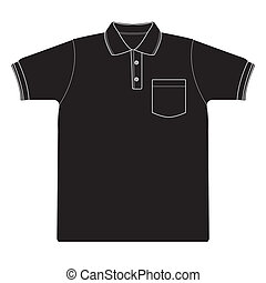 polo shirt outline Silhouetted vect - image of polo shirt...