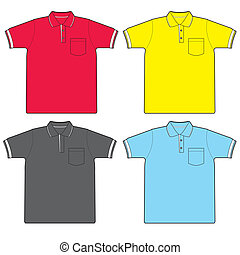 polo shirt vector - image of polo shirt isolated on white...