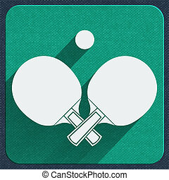 table tennis icon - Table tennis icon vector illustration