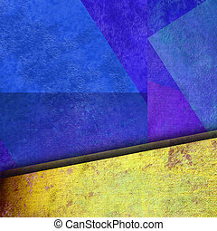 abstract geometric blue and yelow background colorful color...