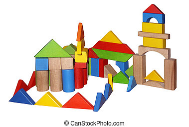 Montessori toys - Wooden blocks for play
