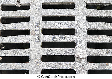 Canal grid - grid covering old canalisation in town