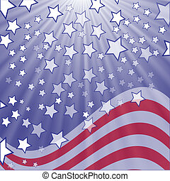 starry flag - colorful illustration with starry flag for...