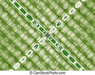 Green abstract graphic