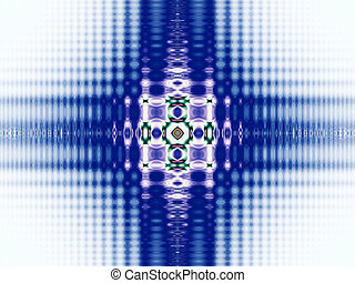 Blue abstract graphic