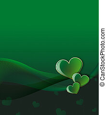 love - green hearts