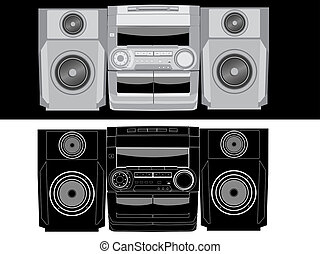 Boom box - Isolated image of boom box.