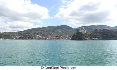 View of the Italian coast, Lerici