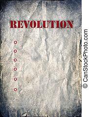 Vintage revolution poster