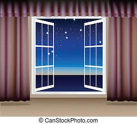 Night Scene through the window