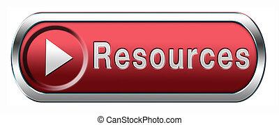recursos, botón