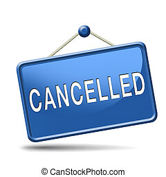 cancelled - Cancelled music concert gig or performance event...