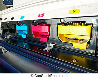 digital printing - modern digital printing press, concept,...