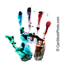 color of hand print