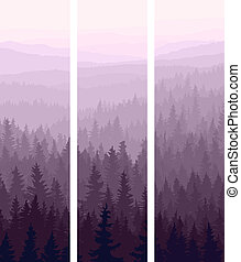 Vertical banners of wood - Vertical abstract banners of...