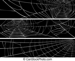 Banners of web of spider.