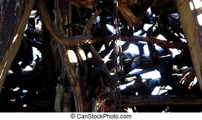 In witch house hut chain that holds the place where they...