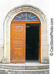 Door - Solid Wooden Door in the French City
