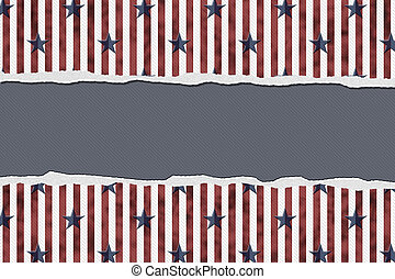 Patriotic Background - Stars and Stripes Torn Background...