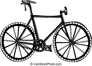 Bicycle Isolated Vector Drawing
