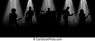 Musical group - The musical group acts on the big scene,...