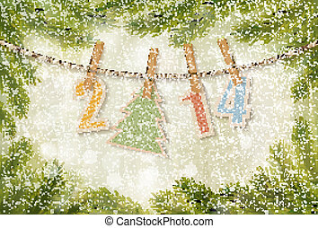 2014 Happy New Year background. Vector