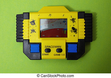 Yellow Vintage Videogame - One Old Yellow Vintage Videogame...