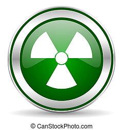 radiação, ícone