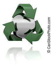3D Recycling symbol