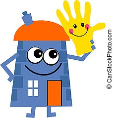 helpful house - Mr house holding a happy helping hand...