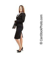 businesswoman with laptop computer - picture of successful...