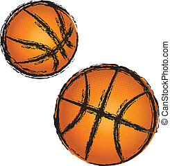 Basketball grunge illustration vector