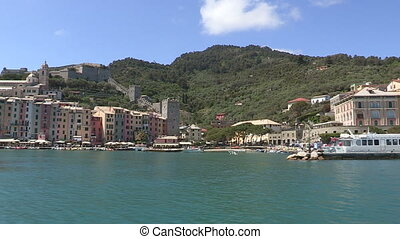 Portovenere seen from a boat - Portovenere, small town in...