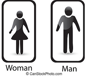 Restroom sign Man and Woman symbol - Restroom sign Man Woman...