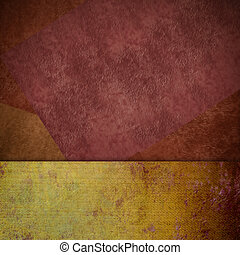 brown and yelow grunge background card, copy space - brown...