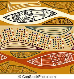 Seamless texture of ethnic tribal