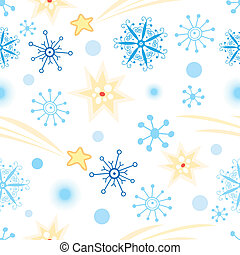 texture with snowflakes - Christmas seamless graphic pattern...