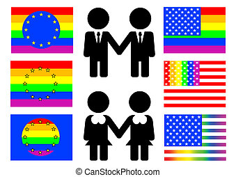 Gay flag - Symbols and flags of homosexual culture