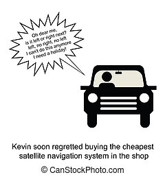 Satellite Navigation - Kevin tested his new satellite...