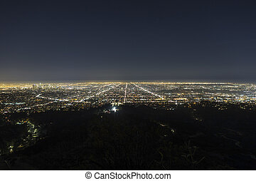 Los Angeles Hazy Night - Hazy night in the Los Angeles basin...