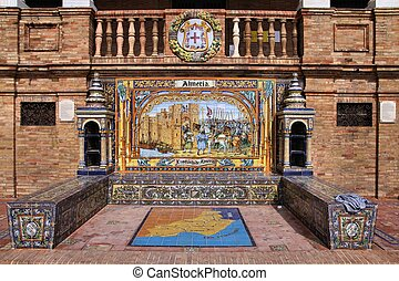 Almeria alcove - Famous ceramic decoration in Plaza de...