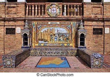 Almeria alcove - Famous ceramic decoration in Plaza de...