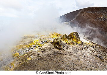Lipari Islands active volcano - An image of the active...