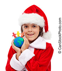 Merry christmas for all the world concept
